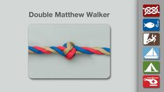 Double Matthew Walker Knot - Learn how to tie a Double Matthew Walker Knot in a simple step-by-step video.   By AnimatedKnots.com - the world's #1 knot site.