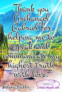 Thank you Archangel Gabriel for helping me to speak and communicate my highest truth with love.   #archangelgabriel