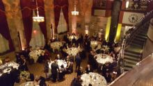 A black tie wedding reception held at the Society Room in Hartford, Connecticut.