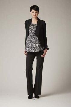 Secret Fit Belly® Bi-stretch Suiting Back Pockets Slim Leg Maternity Pants