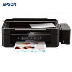 EPSON L355 : The Epson L355 is a wireless all-in-one with integrated ink system, ideal for home offices and small offices. This printer, scanner and copier features Wi-Fi connectivity and two extra bottles of black ink.