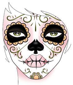 Dia de los Muertos Makeup Look