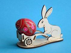 Easter Bunny 3D v2 laser cut