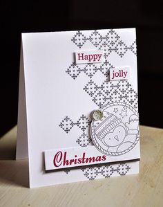Happy Jolly Christmas Card by Maile Belles for Papertrey Ink (November 2014)