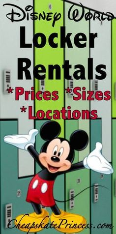 A guide to Walt Disney World Locker Rentals: locations, prices and sizes | plan a Disney World vacation | save time and money at Disney World #disney #disneyworld #disneytips