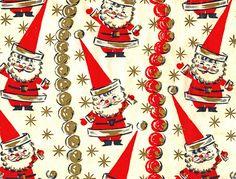 Funky Santa Wrapping Paper by texassurlymonkey, via Flickr