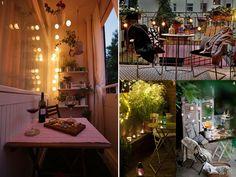 Cenas románticas en el balcón. #decoracionbalcones