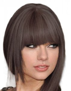 Clip on Fringe Bangs in THICK - 100% human hair free colour match service(37)