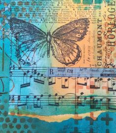 Art journal (3) with Dylusions paint, stamps, stencils and more (Marjie Kemper)