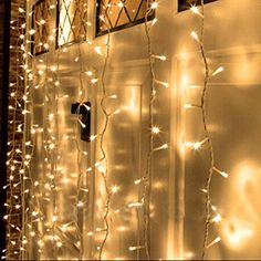 Amazon.com: Neretva Led Light Window Curtain Icicle Lights 304led Linkable Warm White Christmas Curtain String Fairy Wedding Lights for Home, Garden, Kitchen, Bedroom, Livingroom, Party, Window Decorations: Home Improvement