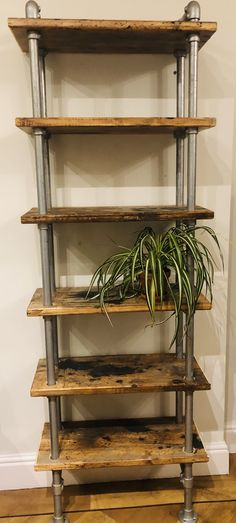 Rustic Metal Shelves – Rustic Homes Handmade Bookshelves, Wood Bookshelves, Industrial Bookshelf, Metal Shelves, Book Shelves, Kitchen Shelves, Scaffold Shelving, Rustic Shelving Unit, Reclaimed Wood Bookcase