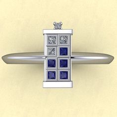 Tardis Ring by dtekdesigns on Etsy, $900.00