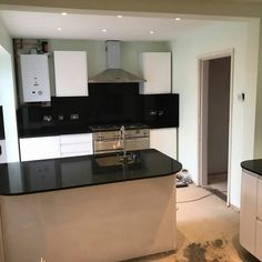 Nero Stella - Watford, Herts - Rock and Co Granite Ltd Oven Range, Watford, Work Tops, Backsplash, Granite, Rock, Granite Counters, Skirt, Locks