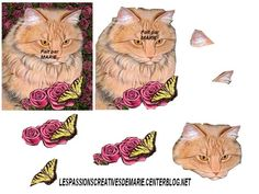 mesdecoupage 3d perso chat - Page 2