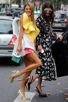 Anna and Giovanna in Rochas Shoes Fashionista Street Style, High Fashion Looks, Anna Dello Russo, Giovanna Battaglia, Streetwear Fashion, Pretty Outfits, Style Guides, Editorial Fashion, Celebrity Style
