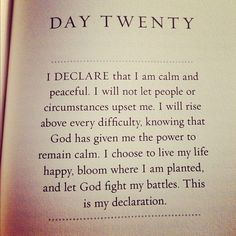 I love affirmations, they allow us to speak positivity and also allow God to do what he wants to in our lives