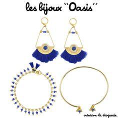 A l'ombre des bananiers, je bois ma citronnade, parée de mes bijoux ''Oasis'' aux couleurs ensoleillées ! #ladroguerie #bijoux