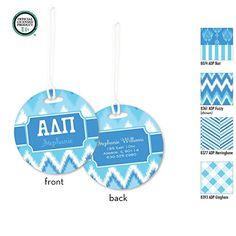 Alpha Delta Pi Personalized Monogrammed Luggage Tag, 2 Bag Tags, Monogrammed Luggage Tag, ID Tag, Monogrammed Bag Tag, Design your Own, preppy monogram, Big Little / Rush Gift / Greek Gift Bid Gift.