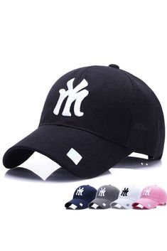 2018 New Unisex 100% Cotton Outdoor Baseball Cap NY Embroidery Snapback  Fashion Sports Hats For Men   Women Caps 56827453e114