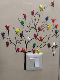 DIY Pista Shell Vogel für Wanddekoration - Diy and Crafts Art Diy, Art N Craft, Diy Wall Art, Diy Wall Decor, Diy Home Crafts, Crafts For Kids, Arts And Crafts, Pista Shell Crafts, Diy Para A Casa