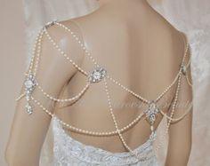 bridal shoulder necklace – Etsy