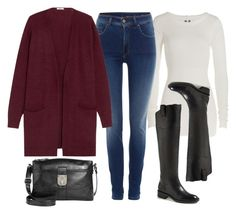 """""""Fall Outfit Idea #9"""" by thebudgetbabe on Polyvore featuring Rick Owens, Salsa, Madewell, Enzo Angiolini and Style & Co."""