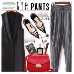 The Pantsuit (work wear) by beebeely-look on Polyvore featuring polyvore, fashion, style, Gucci, NARS Cosmetics, Kilian, clothing, StreetStyle, stripes and gucci