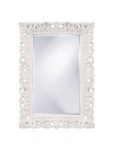 Barcelona Rectangular Glossy White Mirror