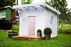 Duon som lanserar en funkis-lekstuga - Ekonomi - www.st.nu Cubby Houses, Play Houses, Tiny Container House, Outdoor Fun, Kids House, Outdoor Gardens, Building A House, Outdoor Living, New Homes