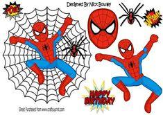Super hero spiderman with spider in web on Craftsuprint - Add To Basket!