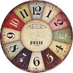 DECOPAULA Clock Craft, Diy Clock, Clock Decor, Decoupage Vintage, Decoupage Paper, Wallpaper Jam, Cd Recycle, Clock Face Printable, Shabby Chic Clock
