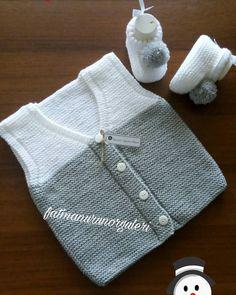 Baby Hats Knitting, Baby Knitting Patterns, Knitted Hats, Knit Vest, Baby Cardigan, Half Sweater, Punjabi Dress, Moda Emo, Baby Sewing Projects