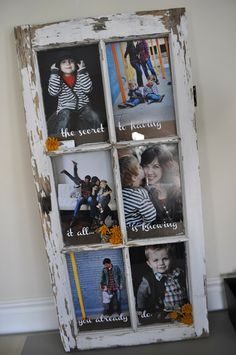 Old Window Turned Picture Frame #upcycle #repurpose #reuse #recycle #frame #window