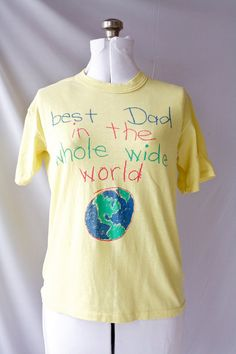 Vintage 70's TShirt  Best Dad in the World  by PomegranateVintage, $16.99