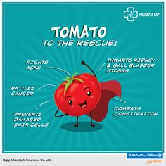 Knowledge is knowing that tomato is a fruit, and wisdom is making it a part of your daily diet! Blessed with a plethora of 'superpowers' aka nutrients, tomato is nothing less than a 'Super-Food', battling away many a sickness, and other maladies. Here's why you should be eating more of it. #HealthTips