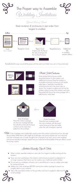 The Proper Way To Assemble Wedding Invitations *FREE PRINTABLE*
