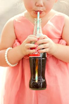 precious child with a coke and her pearls - Southern Charm