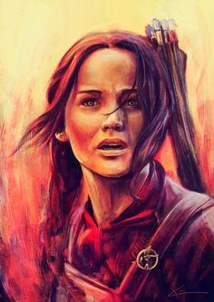 La chica en llamas. Fan art de Katniss