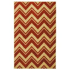 Mohawk Lascala Chevron Stripe Rust 5 ft. x 8 ft. Area Rug-358037 at The Home Depot