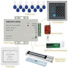 Nueva Tarjeta Lector Acceso Control Sistema Kit De Rfid Con - $ 346.990 en Mercado Libre