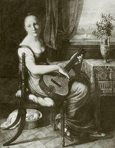 Christian Gottlieb Schick | Carolina von Humboldt with guitar (Wilhelm von Humboldt's eldest daughter)