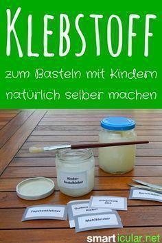 Essbaren Klebstoff zum Basteln für Kinder selbermachen - ungiftig, wasserlöslich…