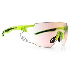 ICECUBE Asian Fit Photochromic Sports Sunglasses | Men or Women| UV Protection | TR90 Ultra Light | Suitable for Running, Driving, Beach, Fishing - COMBUST (Matte Crystal Neon Yellow, Red Mirror) Running Sunglasses, Mens Sport Sunglasses, Red Mirror, Neon Yellow, Fishing, Asian, Crystals, Fit, Beach