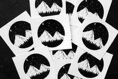 Mountain Circle Vinyl Die Cut Sticker