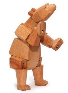 Wooden toy bear - kids camping ideas