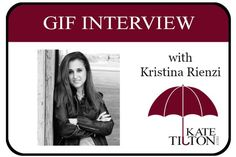 Have some fun with this new gif interview featuring author Kristina Rienzi​!