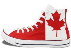 e4d394d0b637e Canada Flag Converse All Star Man Woman Shoes