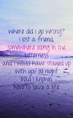 "How to save a life by the Fray... BLAST IT IN ALL OF IT""S CLICHENESS"