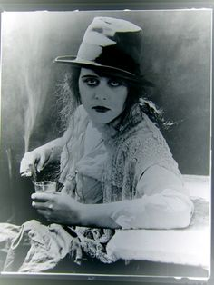Theda Bara demonstrates various bad habits, lest you ever doubted her badassitude https://www.facebook.com/NotSoInnerBadass