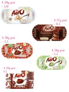 Aero Choc Desserts astuce recette minceur girl world world recipes world snacks Slimming World Syns List, Slimming World Sweets, Slimming World Puddings, Slimming World Syn Values, Slimming World Recipes Syn Free, Slimming Word, Syn Free Food, Quality Street, Asda